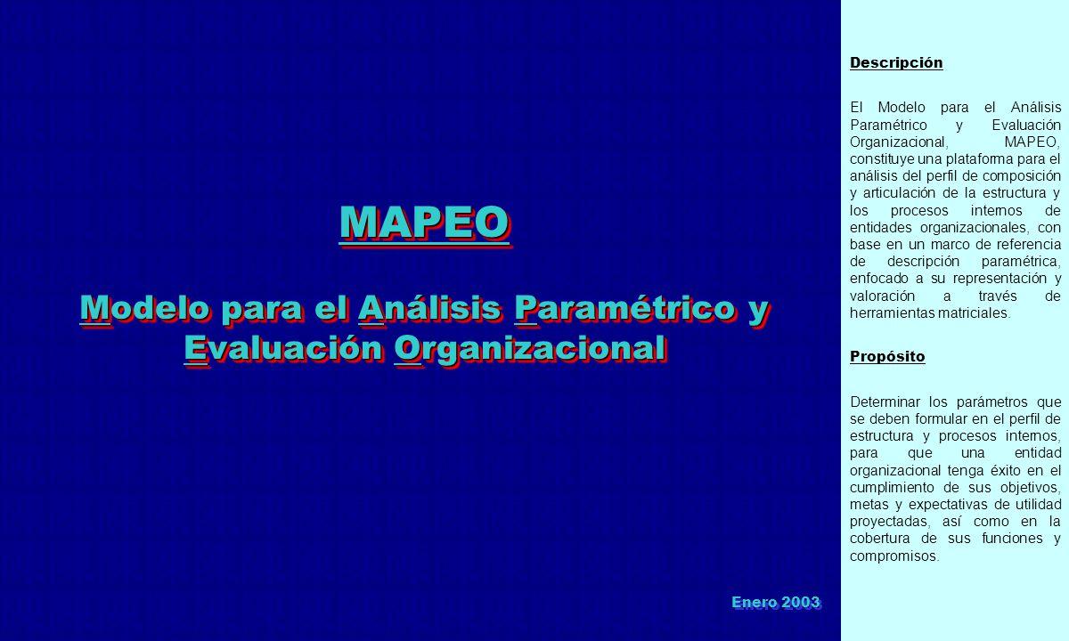 Modelo para el Análisis Paramétrico y Evaluación Organizacional