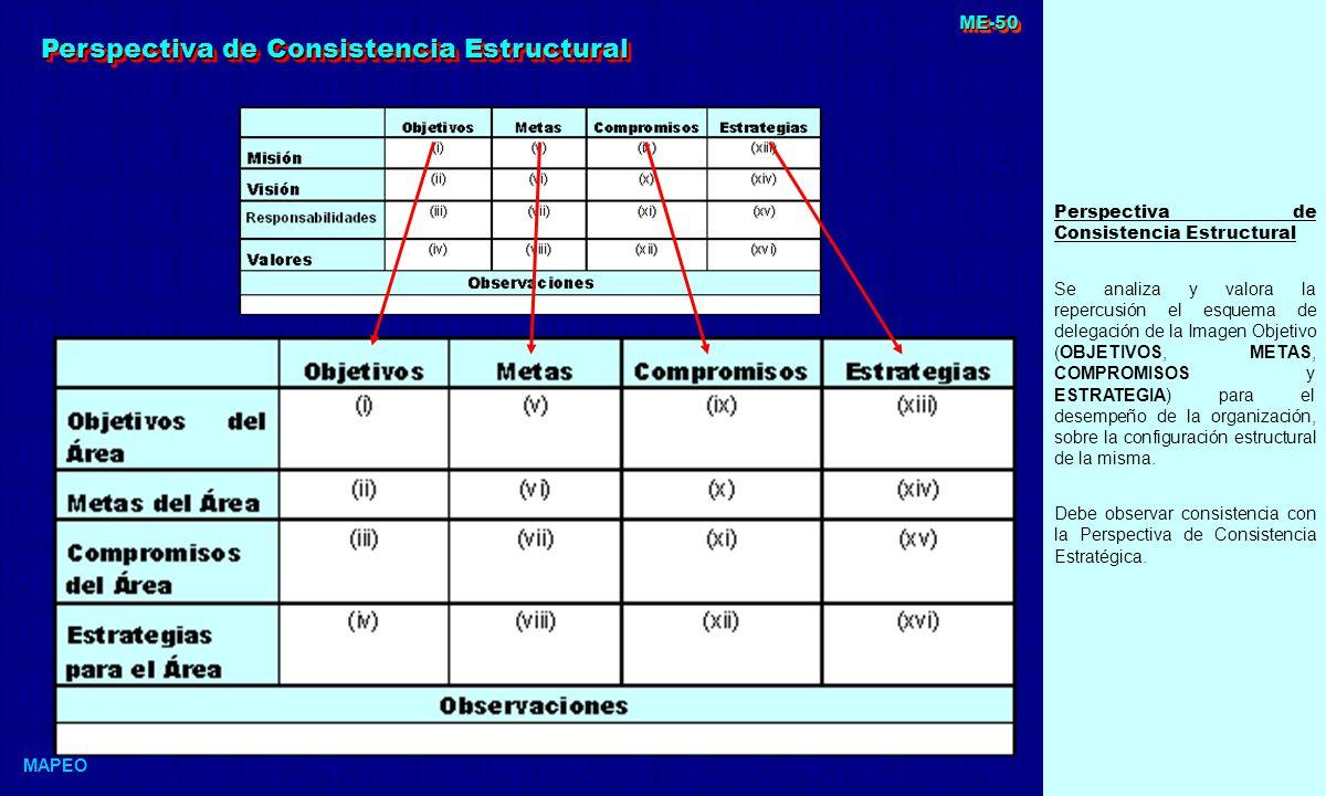 Perspectiva de Consistencia Estructural