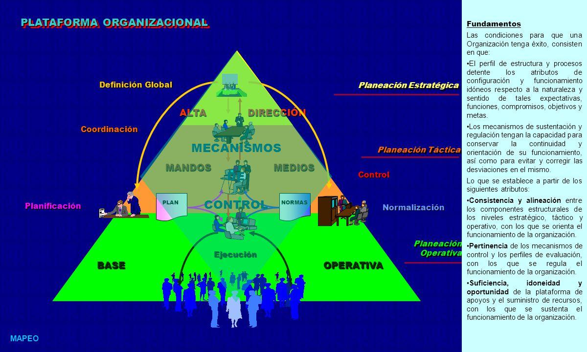 MECANISMOS DE CONTROL PLATAFORMA ORGANIZACIONAL ALTA DIRECCIÓN