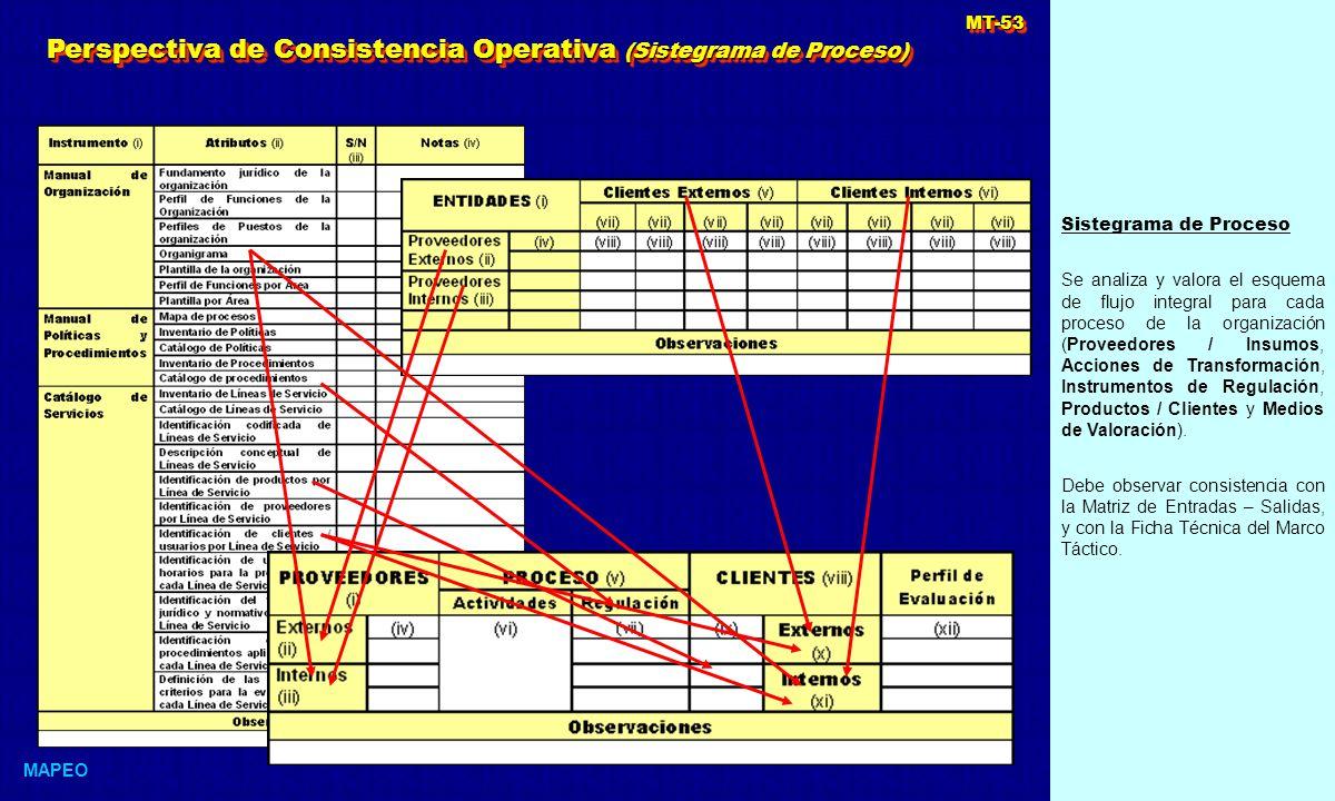 Perspectiva de Consistencia Operativa (Sistegrama de Proceso)