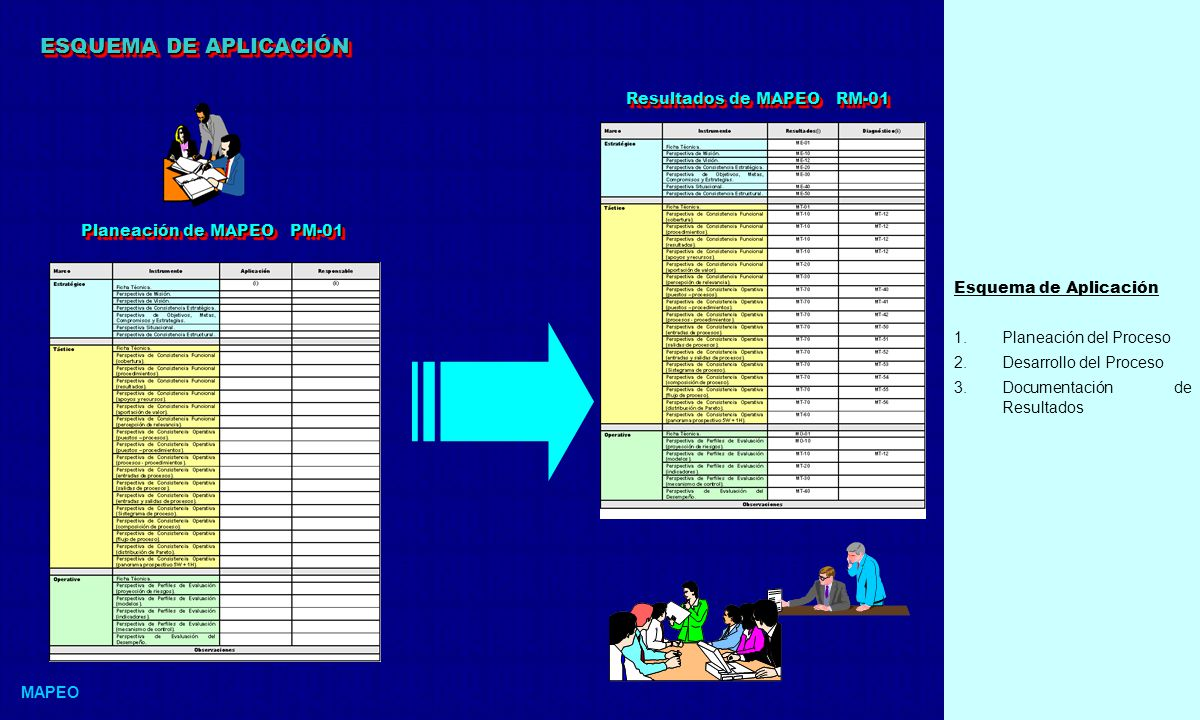 ESQUEMA DE APLICACIÓN Resultados de MAPEO RM-01 Esquema de Aplicación