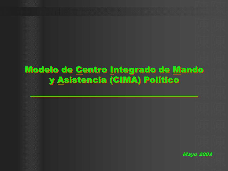 Modelo de Centro Integrado de Mando y Asistencia (CIMA) Político