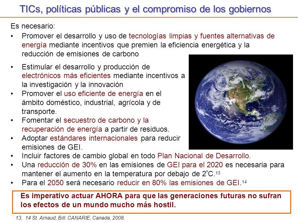 TICs, políticas públicas y el compromiso de los gobiernos