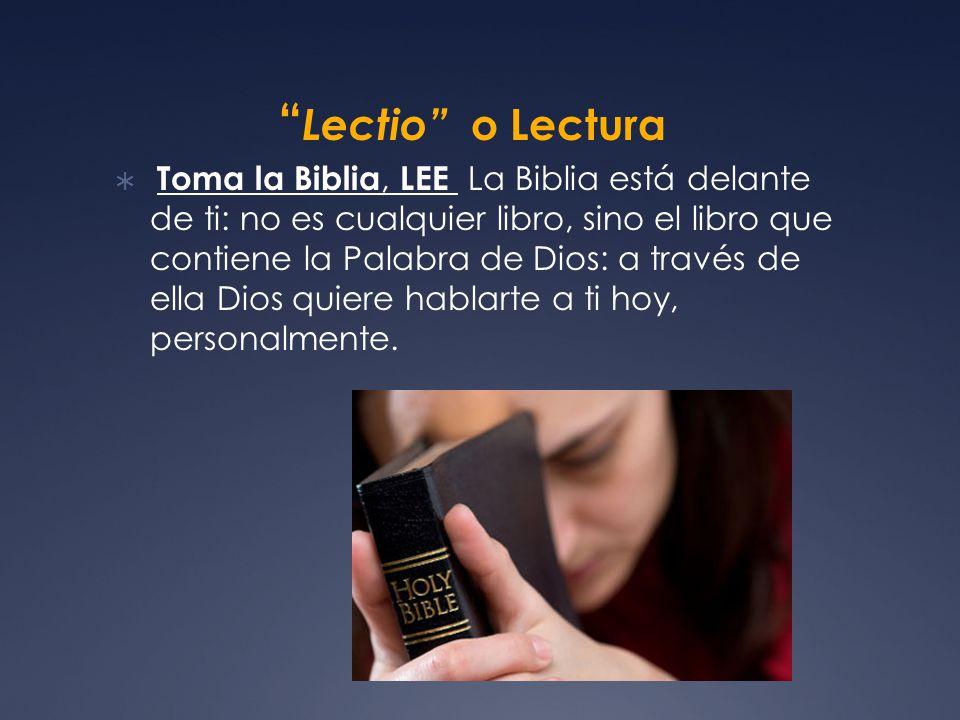 Lectio o Lectura