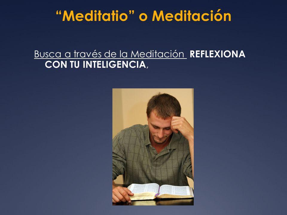 Meditatio o Meditación
