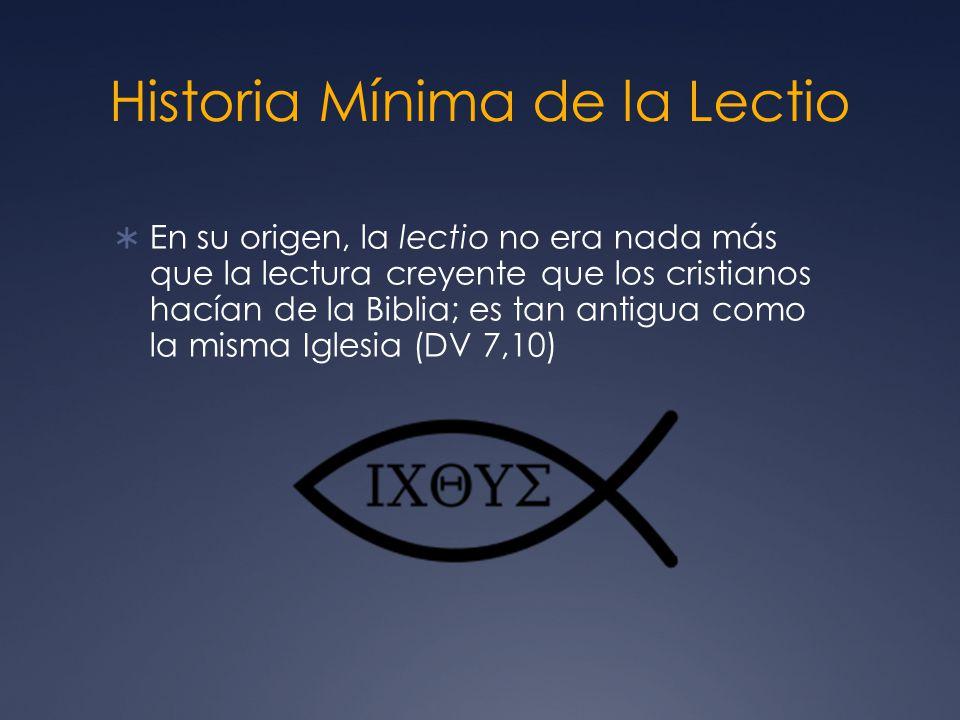 Historia Mínima de la Lectio