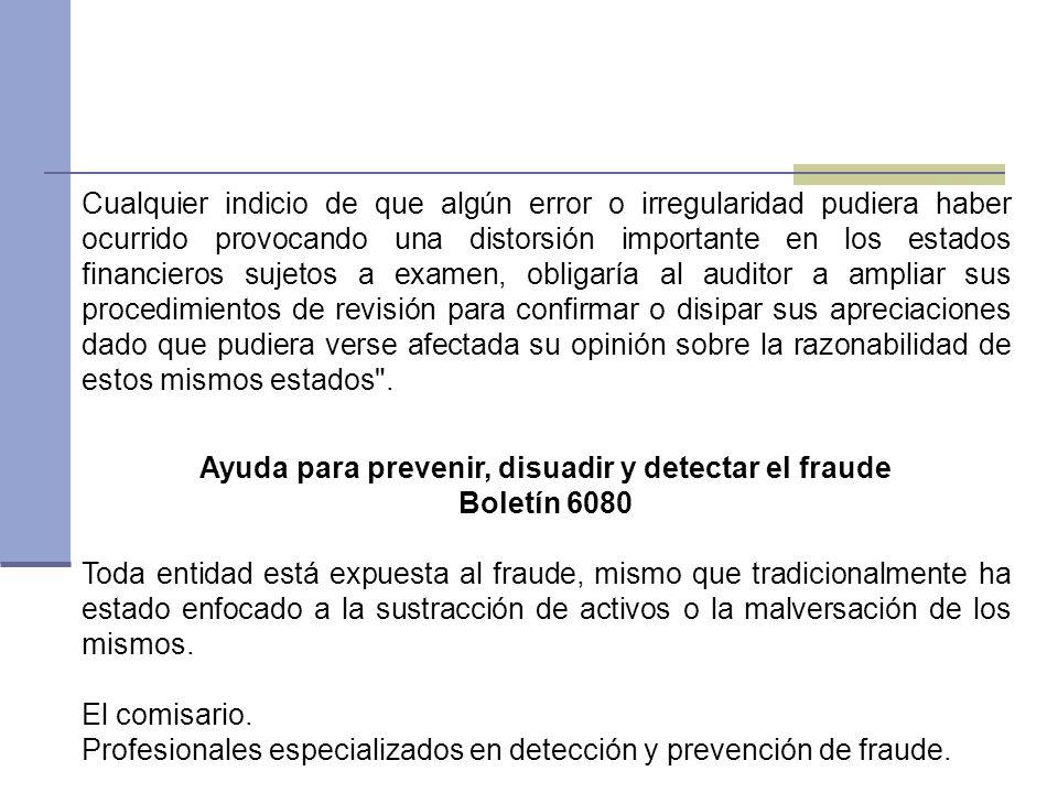 Ayuda para prevenir, disuadir y detectar el fraude