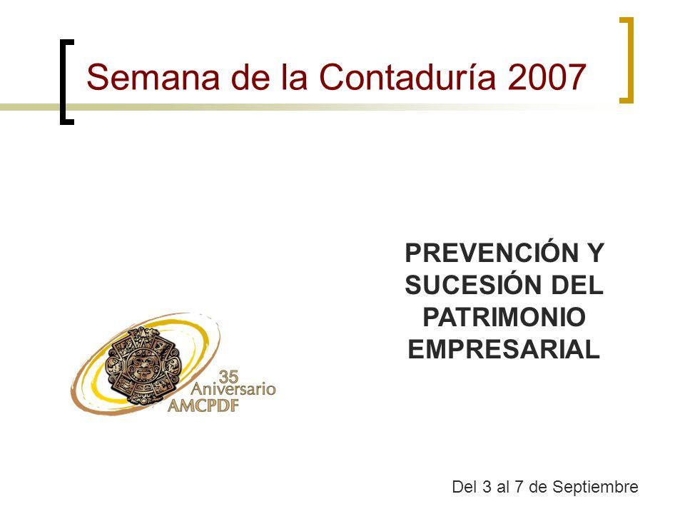 PREVENCIÓN Y SUCESIÓN DEL PATRIMONIO EMPRESARIAL
