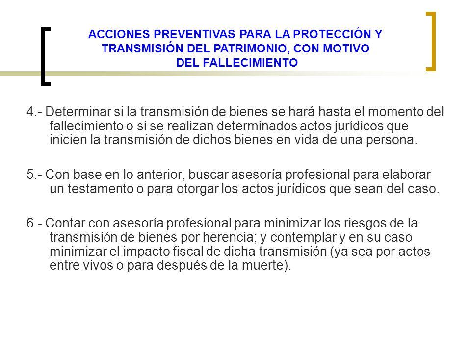 ACCIONES PREVENTIVAS PARA LA PROTECCIÓN Y