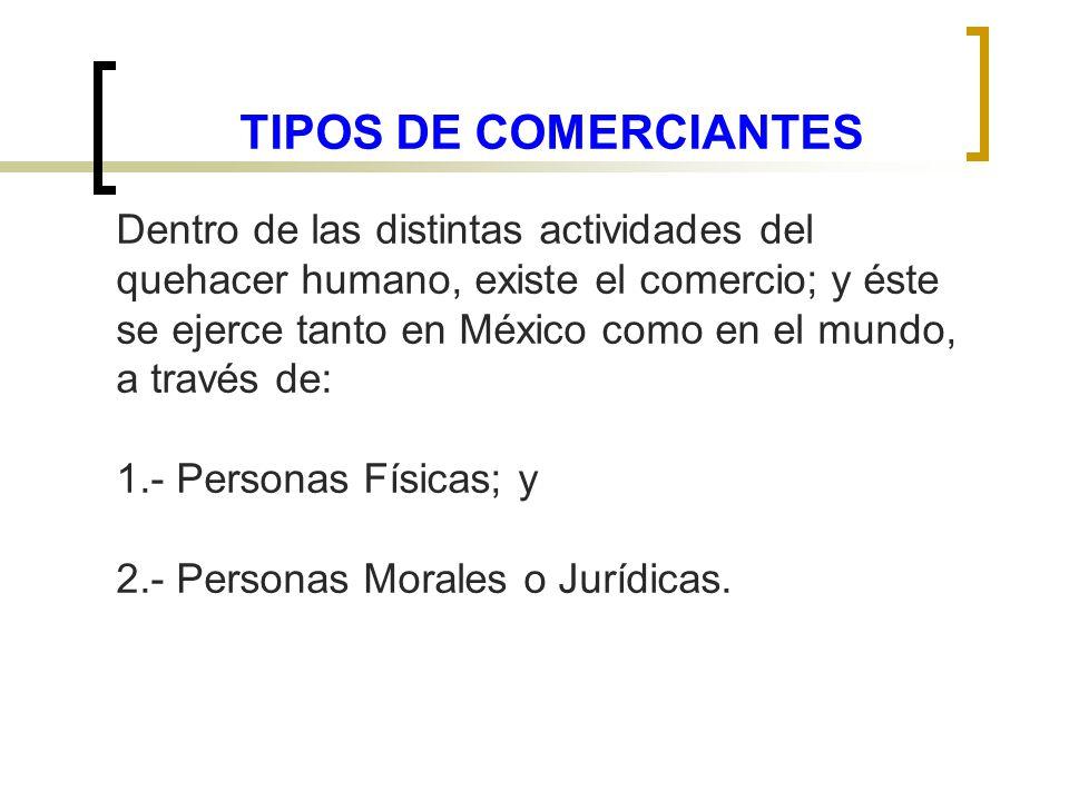 TIPOS DE COMERCIANTES