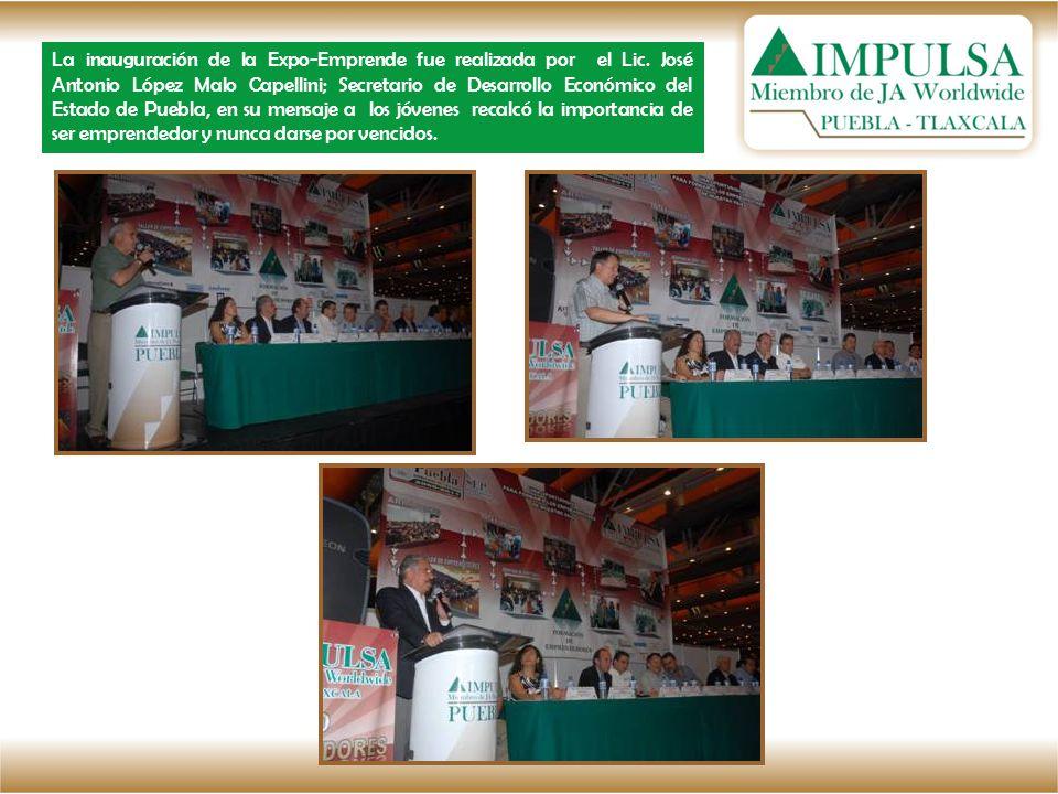 La inauguración de la Expo-Emprende fue realizada por el Lic