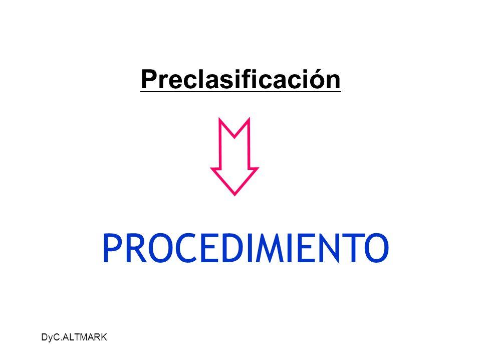 Preclasificación PROCEDIMIENTO DyC.ALTMARK