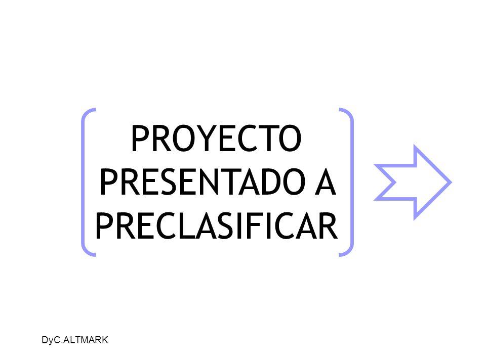 PROYECTO PRESENTADO A PRECLASIFICAR