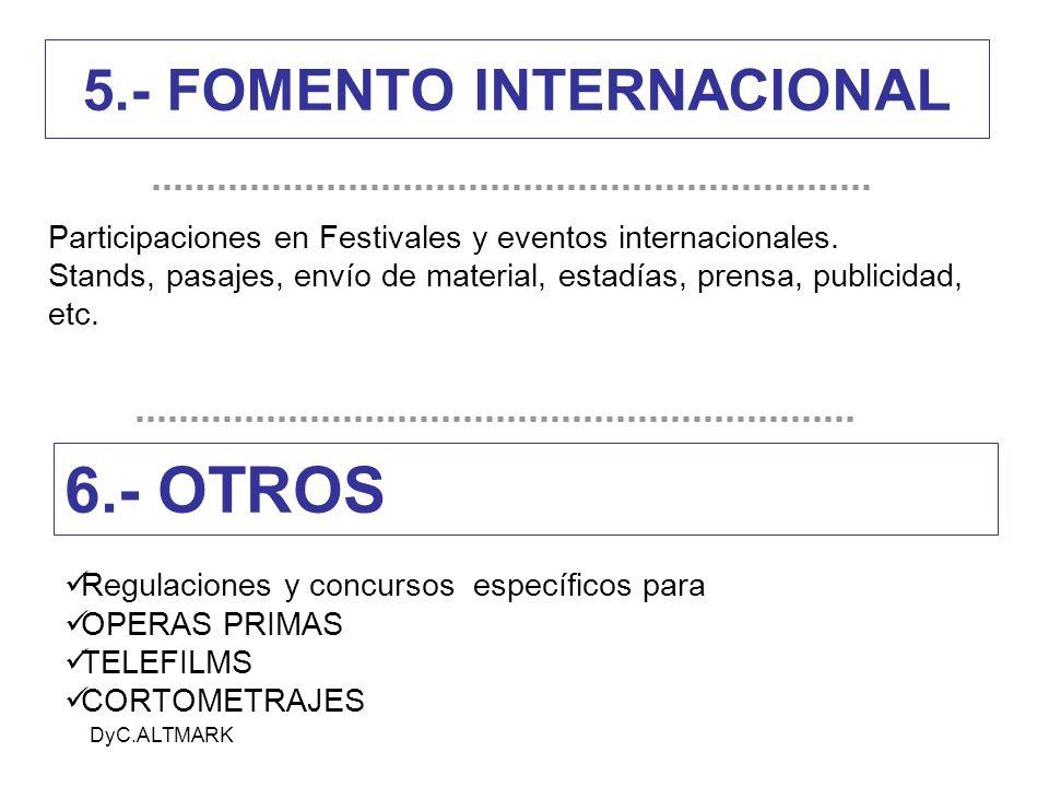 5.- FOMENTO INTERNACIONAL