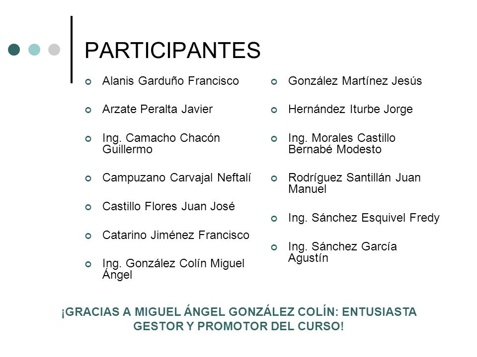 PARTICIPANTES Alanis Garduño Francisco Arzate Peralta Javier