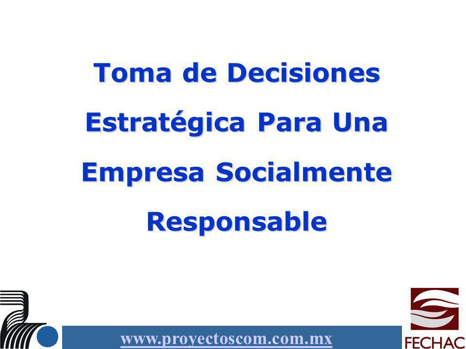 Toma de Decisiones Estratégica Para Una Empresa Socialmente Responsable