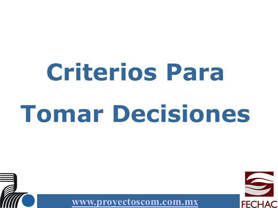 Criterios Para Tomar Decisiones