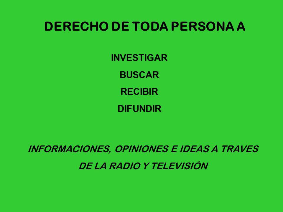 DERECHO DE TODA PERSONA A