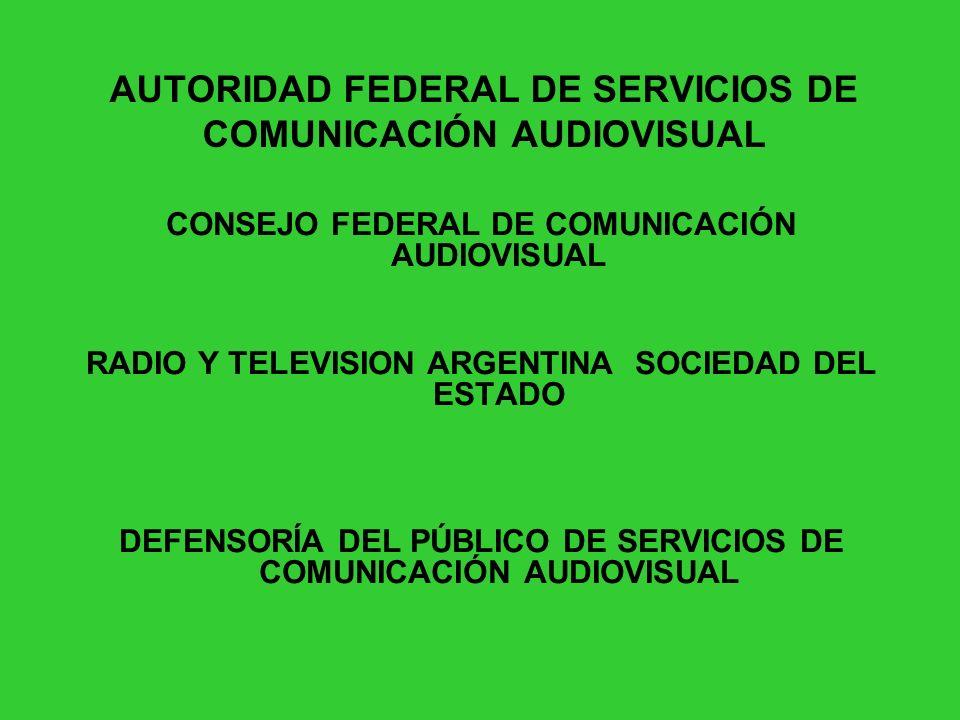 AUTORIDAD FEDERAL DE SERVICIOS DE COMUNICACIÓN AUDIOVISUAL