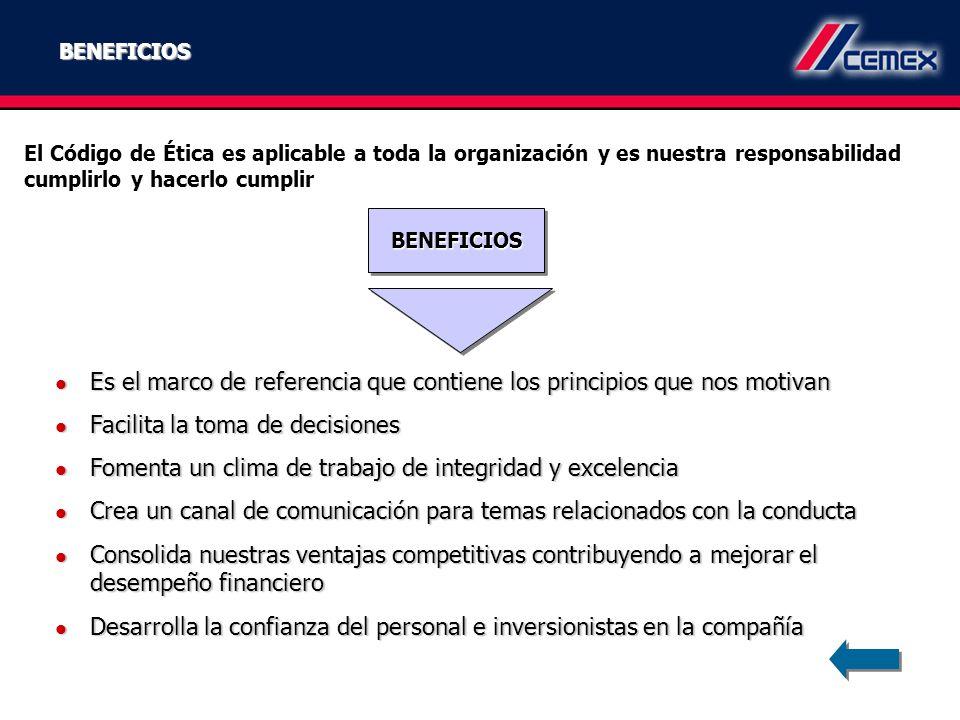 Es el marco de referencia que contiene los principios que nos motivan