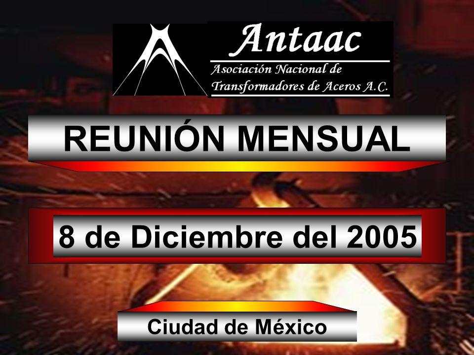 REUNIÓN MENSUAL 8 de Diciembre del 2005 Ciudad de México
