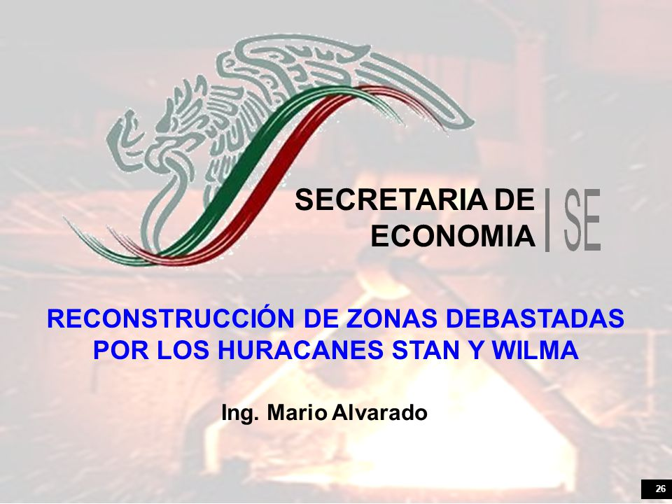 RECONSTRUCCIÓN DE ZONAS DEBASTADAS POR LOS HURACANES STAN Y WILMA