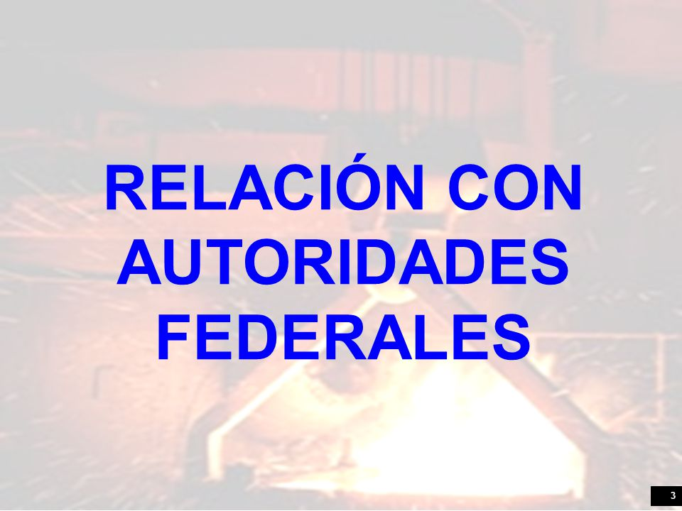 RELACIÓN CON AUTORIDADES FEDERALES
