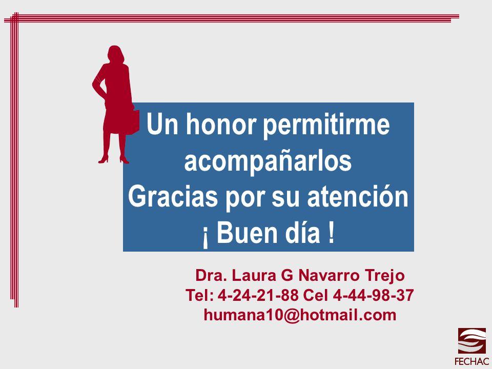 Gracias por su atención Dra. Laura G Navarro Trejo