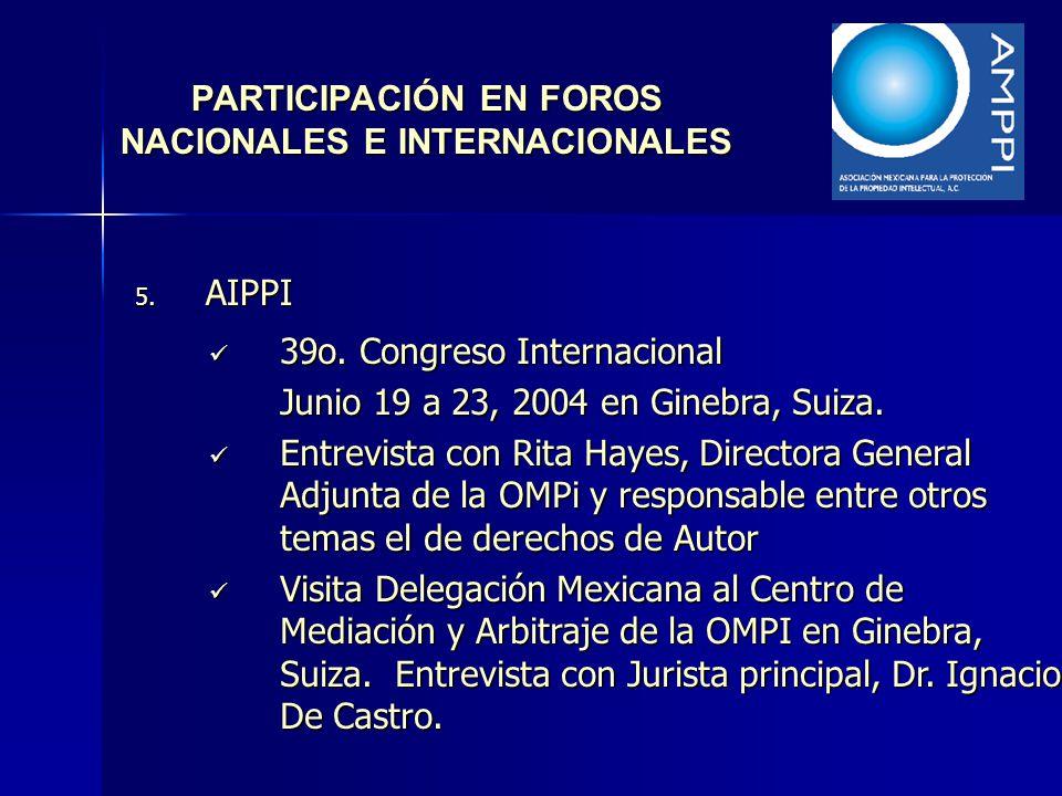 PARTICIPACIÓN EN FOROS NACIONALES E INTERNACIONALES