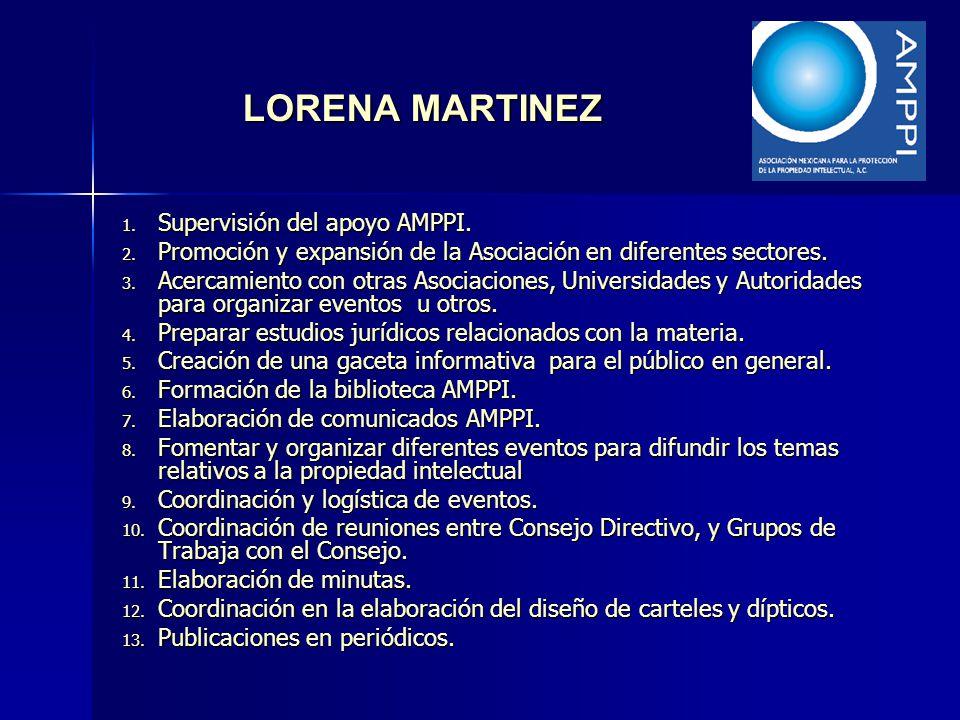 LORENA MARTINEZ Supervisión del apoyo AMPPI.