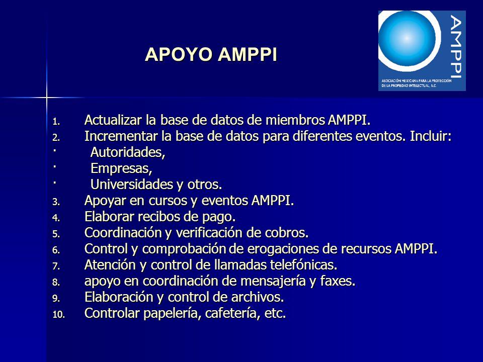 APOYO AMPPI Actualizar la base de datos de miembros AMPPI.