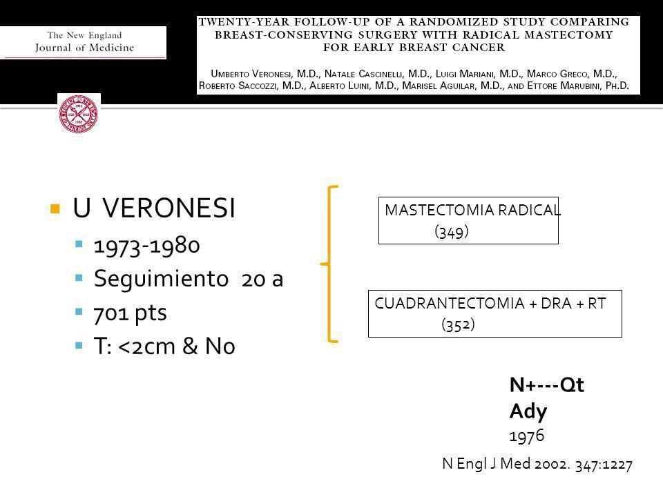 U VERONESI 1973-1980 Seguimiento 20 a 701 pts T: <2cm & N0