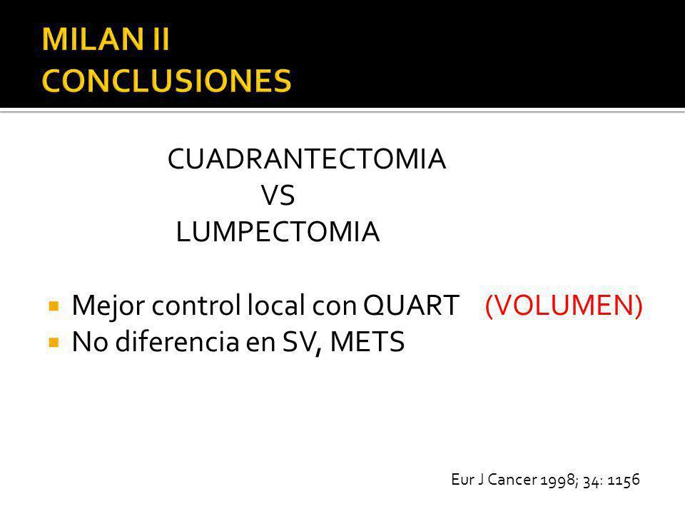 MILAN II CONCLUSIONES CUADRANTECTOMIA VS LUMPECTOMIA