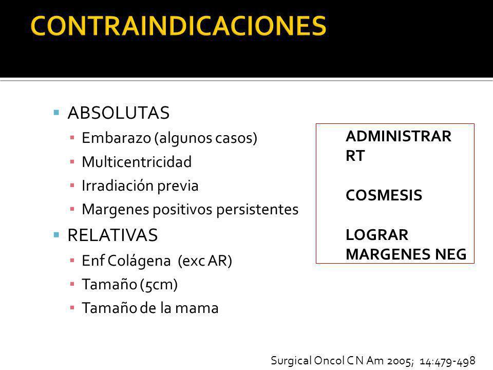 CONTRAINDICACIONES ABSOLUTAS RELATIVAS Embarazo (algunos casos)