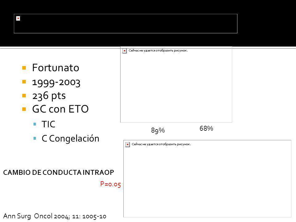 Fortunato 1999-2003 236 pts GC con ETO TIC C Congelación 68% 89%