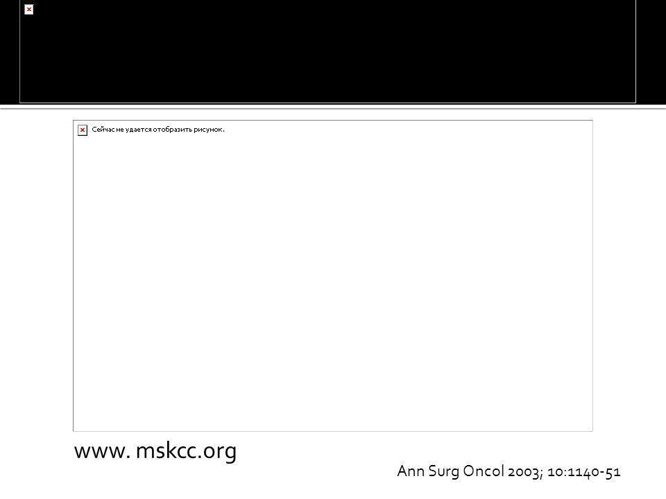 www. mskcc.org Ann Surg Oncol 2003; 10:1140-51