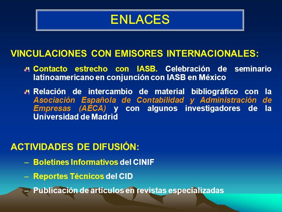 ENLACES VINCULACIONES CON EMISORES INTERNACIONALES: