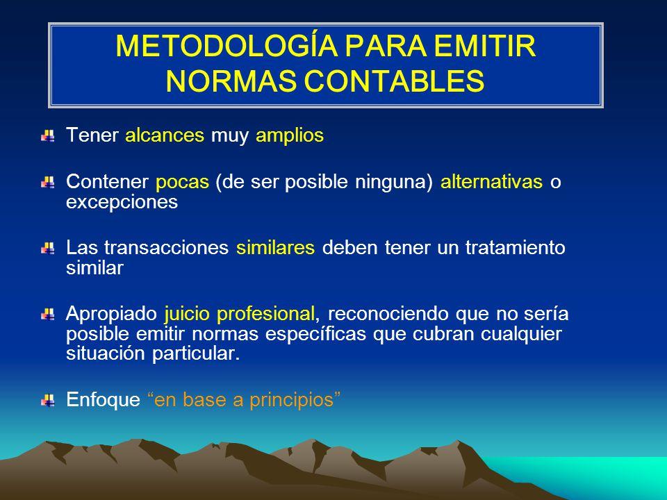 METODOLOGÍA PARA EMITIR NORMAS CONTABLES