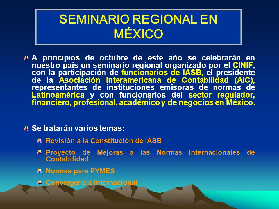 SEMINARIO REGIONAL EN MÉXICO