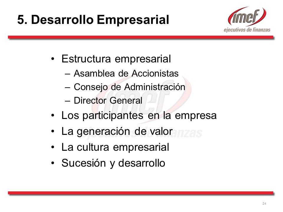 5. Desarrollo Empresarial