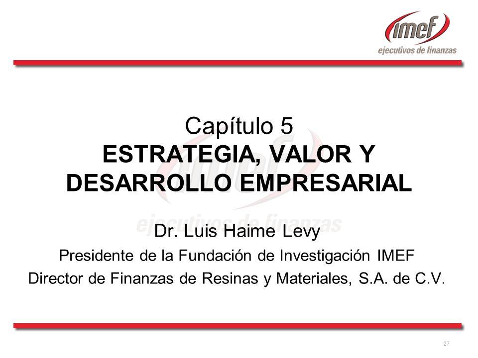 Capítulo 5 ESTRATEGIA, VALOR Y DESARROLLO EMPRESARIAL