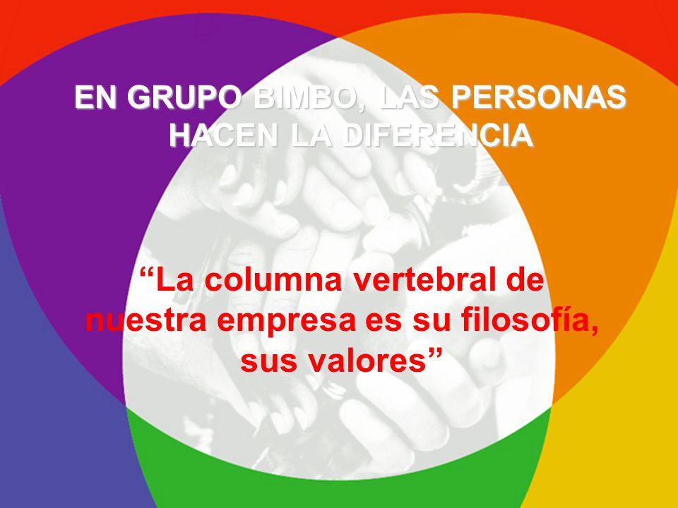 La columna vertebral de nuestra empresa es su filosofía, sus valores