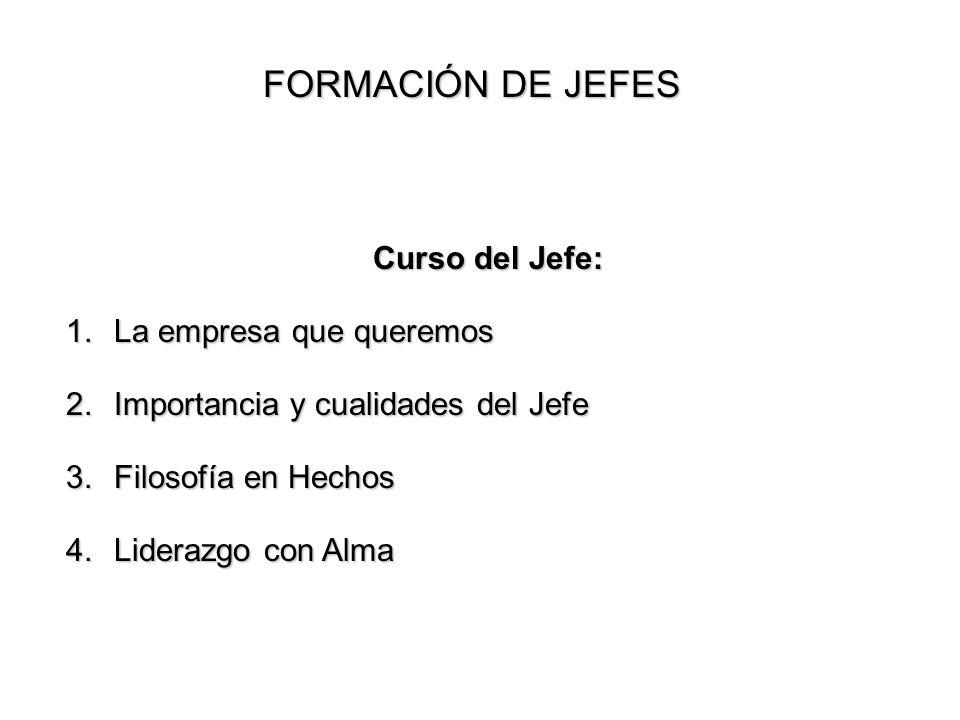 FORMACIÓN DE JEFES Curso del Jefe: La empresa que queremos