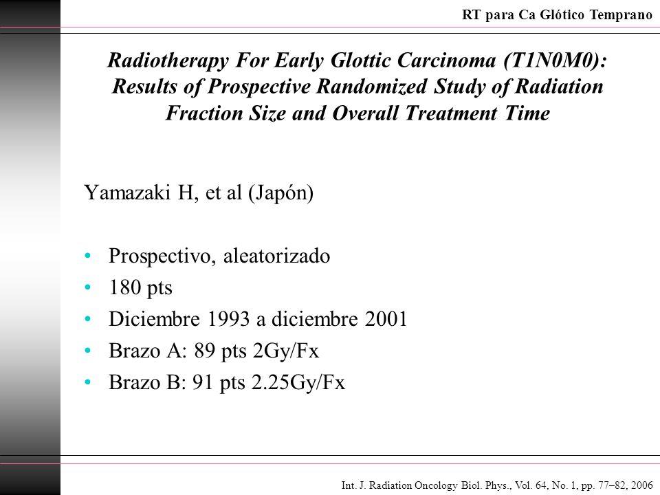 Yamazaki H, et al (Japón) Prospectivo, aleatorizado 180 pts
