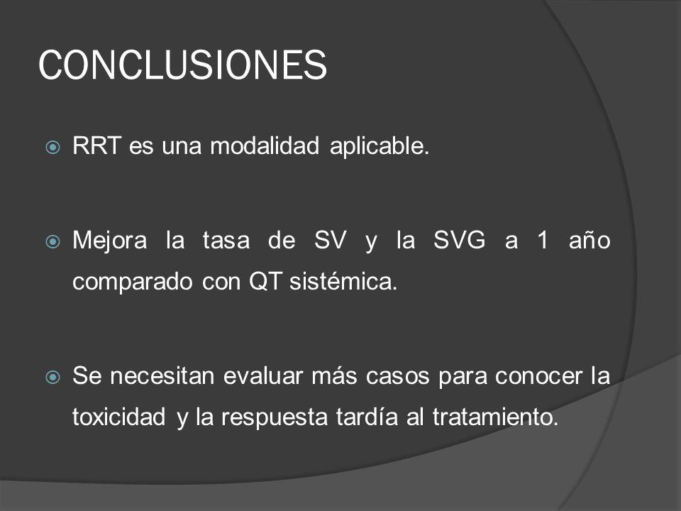 CONCLUSIONES RRT es una modalidad aplicable.
