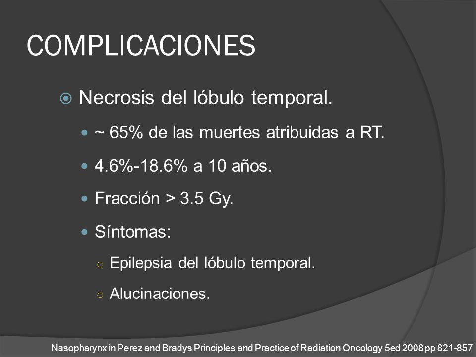 COMPLICACIONES Necrosis del lóbulo temporal.