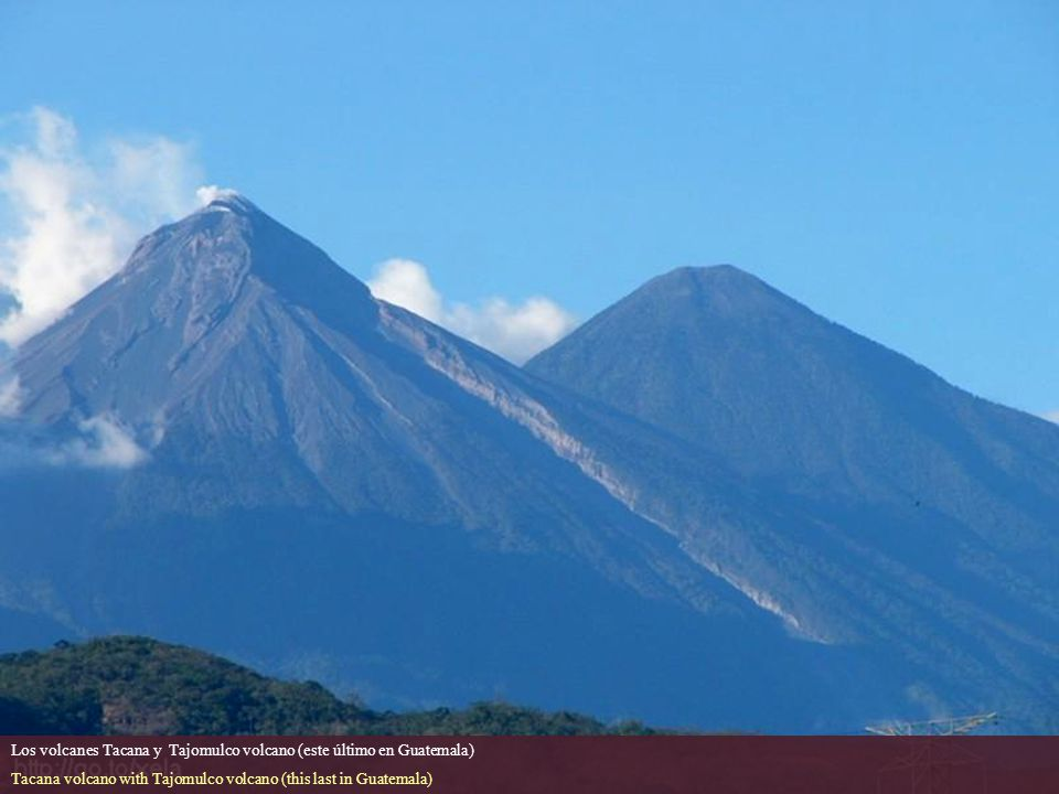 Los volcanes Tacana y Tajomulco volcano (este último en Guatemala)
