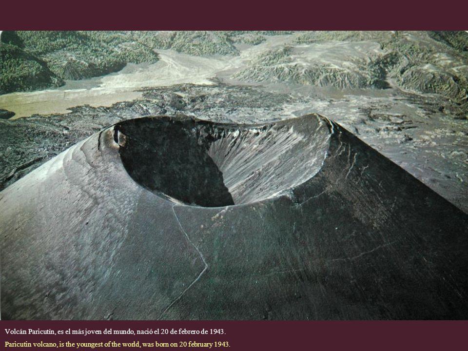 Volcán Paricutín, es el más joven del mundo, nació el 20 de febrero de 1943.