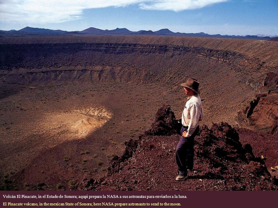 Volcán El Pinacate, in el Estado de Sonora; aqupi prepara la NASA a sus astroautas para enviarlos a la luna.