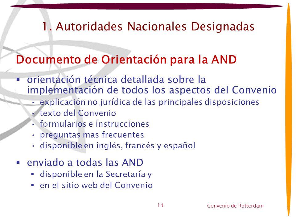 1. Autoridades Nacionales Designadas